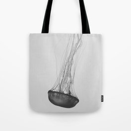 Black & White Jellyfish Tote Bag