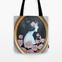 helen green Tote Bags featuring Helen by Mike Ferrari
