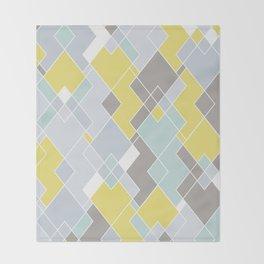 Yellow & Gray Geometric Pattern Throw Blanket