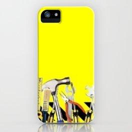 Yellow Tools iPhone Case