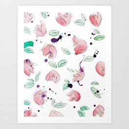 blazz studios: Spring Tulips Art Print