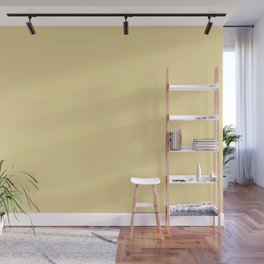 Dark Pastel Yellow Solid Color Pairs w/ Pantone's 2020 Forecast Trending Color 12-0720 Mellow Yellow Wall Mural