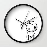 kodama Wall Clocks featuring Kodama! by BlondieAu