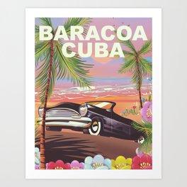 Baracoa, Cuba vacation poster Art Print
