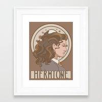 hermione Framed Art Prints featuring Hermione by MichelleLynne