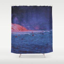 Surf Town Shower Curtain