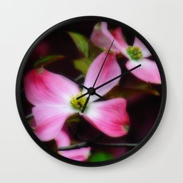 Dreamy Dogwood Wall Clock