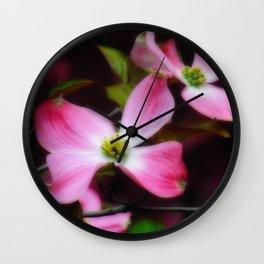 Dreamy Dogwood Wall Clock