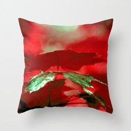 Emerald Leaf Throw Pillow