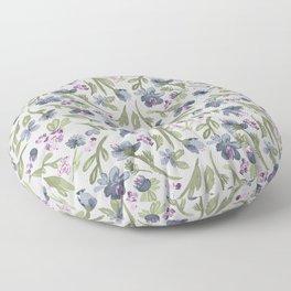 Falling flowers: purple Floor Pillow