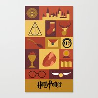 harry potter Canvas Prints featuring Potter by Polvo