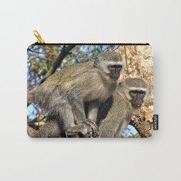 Wild Vervet Monkeys on a Tree Branch Carry-All Pouch