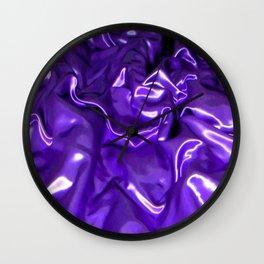 Ultra Violet Satin Material Wall Clock