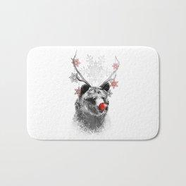 Rudolph the Bear Bath Mat