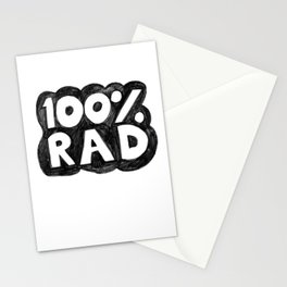 100 % RAD - Bubble Stationery Cards