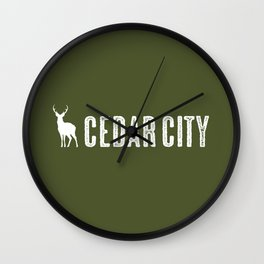 Deer: Cedar City, Utah Wall Clock