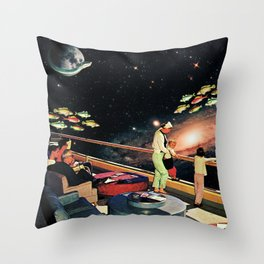 Look There - a Fish and a Galaxy Throw Pillow