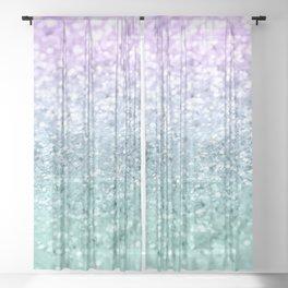 Mermaid Girls Glitter #1 #shiny #decor #art #society6 Sheer Curtain