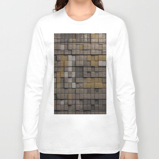 Wood pattern Long Sleeve T-shirt