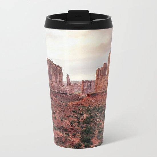 Fire Red Rock Formations in Utah Metal Travel Mug