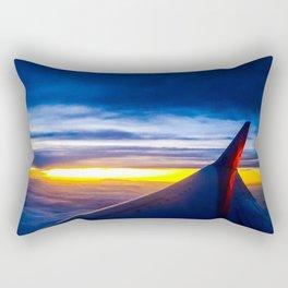 Midflight Sunset Rectangular Pillow