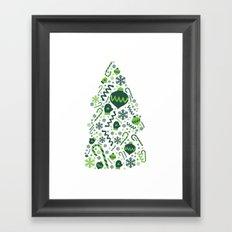 Festive Christmas Print Framed Art Print