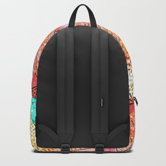 Paint Splatter Mountains Backpack