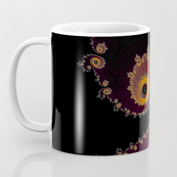 Burning Embers - Fractal Art Coffee Mug