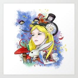 Alice's Adventure in Wonderland Art Print