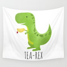 Tea-Rex Wall Tapestry