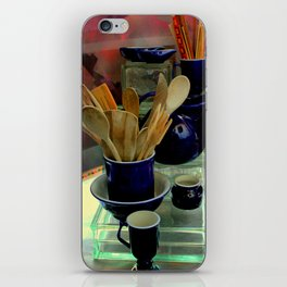 Those Out Of The Kitchen Blues iPhone Skin