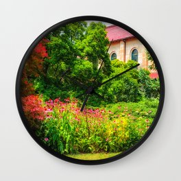 Red Roof Wall Clock