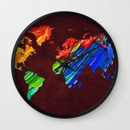 World Map 12 Wall Clock