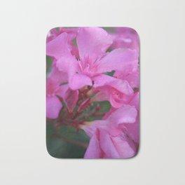 Pink Oleander Flower  Bath Mat