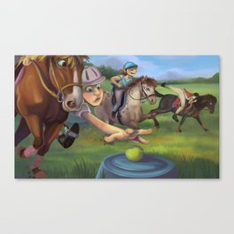 Mounted Games Canvas Print