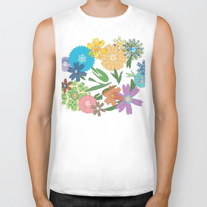 Flower Gardens Biker Tank