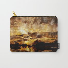 Golden sunset watercolor Carry-All Pouch