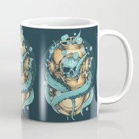 diver Mugs featuring The Diver by Robin Clarijs
