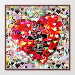 Two Winners Hearts Canvas Print
