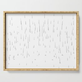 Rain Void Background Memory Simple Shapes Fall Sky Serving Tray