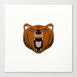 Geometric Bear - Abstract, Animal Design Canvas Print