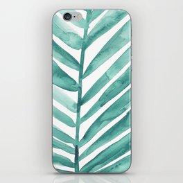 Green Palm Leaf Crop iPhone Skin