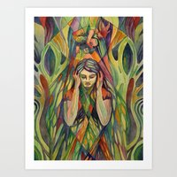 Falling Above Yourself Art Print