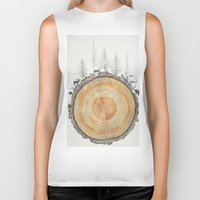 tree rings Biker Tanks featuring Tree Rings by dreamshade
