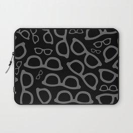 Black Smart Glasses Pattern Laptop Sleeve