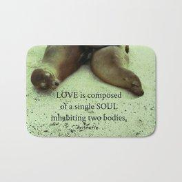 Love soul Aristotle quote Bath Mat