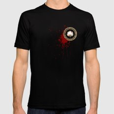 Minimal movie cover: Django Unchained LARGE Black Mens Fitted Tee