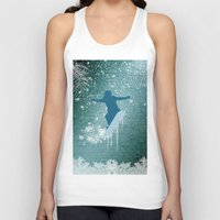 snowboarding Tank Tops featuring Snowboarding by nicky2342