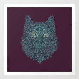 Wolf of Winter Art Print