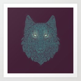 Wolf of Winter Art Print